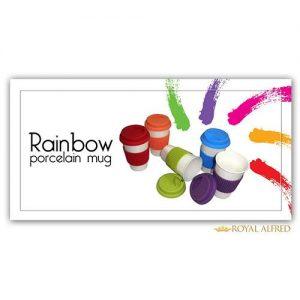 Rainbow Porcelain Mug