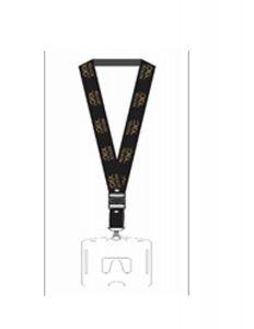 Lanyad loreal hitam logo gold